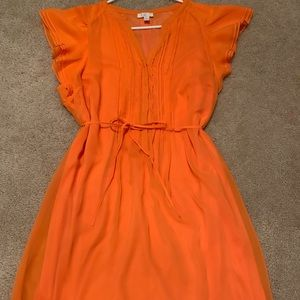 Charming Charlie Orange knee length dress